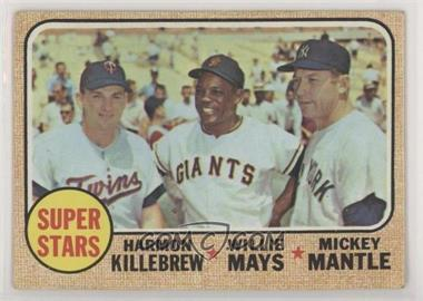 1968 Topps - [Base] #490 - Super Stars (Willie Mays, Mickey Mantle, Harmon Killebrew) [Good to VG‑EX]
