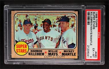 1968 Topps - [Base] #490 - Super Stars (Willie Mays, Mickey Mantle, Harmon Killebrew) [PSA6EX‑MT]