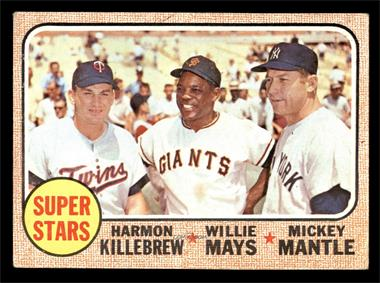 1968 Topps - [Base] #490 - Super Stars (Willie Mays, Mickey Mantle, Harmon Killebrew) [VG]