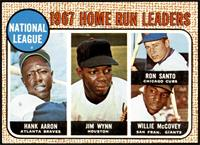 1967 NL Home Run Leaders (Hank Aaron, Jimmy Wynn, Ron Santo, Willie McCovey) [N…