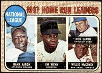 1967 NL Home Run Leaders (Hank Aaron, Jimmy Wynn, Ron Santo, Willie McCovey) [F…