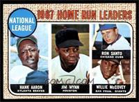 1967 NL Home Run Leaders (Hank Aaron, Jimmy Wynn, Ron Santo, Willie McCovey) [E…