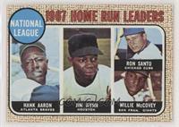 1967 NL Home Run Leaders (Hank Aaron, Jimmy Wynn, Ron Santo, Willie McCovey)