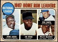 1967 NL Home Run Leaders (Hank Aaron, Jimmy Wynn, Ron Santo, Willie McCovey) [V…