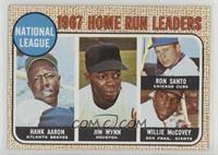 1967 NL Home Run Leaders (Hank Aaron, Jimmy Wynn, Ron Santo, Willie McCovey) [G…