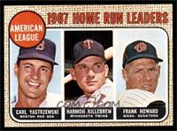 1967 AL Home Run Leaders (Carl Yastrzemski, Frank Howard, Harmon Killebrew) [EX…
