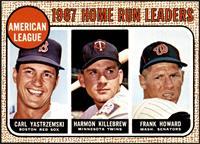 1967 AL Home Run Leaders (Carl Yastrzemski, Frank Howard, Harmon Killebrew) [NM…