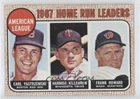 1967 AL Home Run Leaders (Carl Yastrzemski, Frank Howard, Harmon Killebrew)