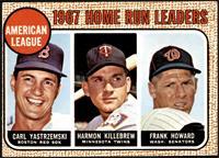 1967 AL Home Run Leaders (Carl Yastrzemski, Frank Howard, Harmon Killebrew) [VG…