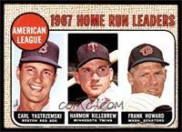 1967 AL Home Run Leaders (Carl Yastrzemski, Frank Howard, Harmon Killebrew) [VG]