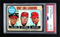 1967 NL ERA Leaders (Phil Niekro, Jim Bunning, Chris Short) [PSA8NM…