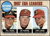 1967 NL ERA Leaders (Phil Niekro, Jim Bunning, Chris Short) [NM]