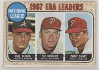1967 NL ERA Leaders (Phil Niekro, Jim Bunning, Chris Short)