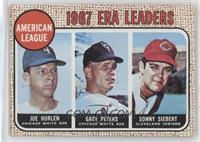 1967 NL ERA Leaders (Sonny Siebert, Joe Horlen, Gary Peters)