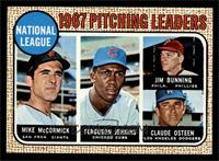 1967 NL Pitching Leaders (Mike McCormick, Fergie Jenkins, Jim Bunning, Claude O…
