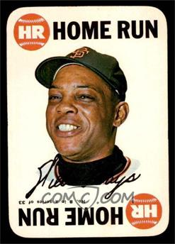 1968 Topps - Game #8 - Willie Mays [EX MT]