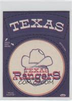 Texas Rangers Round Logo (Black Wording Around Logos)