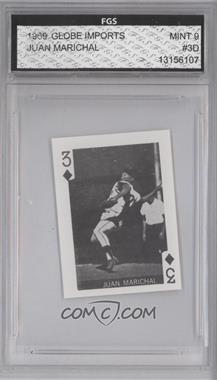 1969 Globe Imports Playing Cards - Gas Station Issue [Base] #3D - Juan Marichal [ENCASED]