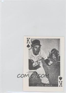 1969 Globe Imports Playing Cards - Gas Station Issue [Base] #KS - Clete Boyer