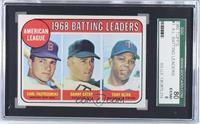 1968 AL Batting Leaders (Carl Yastrzemski, Danny Cater, Tony Oliva) [SGC8…