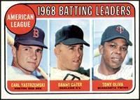 1968 AL Batting Leaders (Carl Yastrzemski, Danny Cater, Tony Oliva) [EXMT]