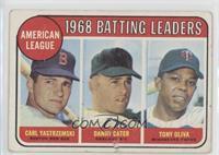 1968 AL Batting Leaders (Carl Yastrzemski, Danny Cater, Tony Oliva) [Poor]