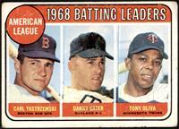 1968 AL Batting Leaders (Carl Yastrzemski, Danny Cater, Tony Oliva) [FAIR]