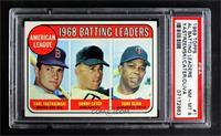 1968 AL Batting Leaders (Carl Yastrzemski, Danny Cater, Tony Oliva) [PSA8…