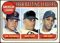 1968 AL Batting Leaders (Carl Yastrzemski, Danny Cater, Tony Oliva) [VG]