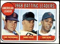 1968 AL Batting Leaders (Carl Yastrzemski, Danny Cater, Tony Oliva) [GOOD]