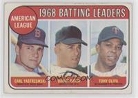 1968 AL Batting Leaders (Carl Yastrzemski, Danny Cater, Tony Oliva) [None…