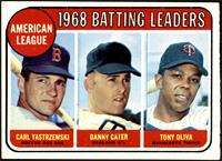 1968 AL Batting Leaders (Carl Yastrzemski, Danny Cater, Tony Oliva) [EX]