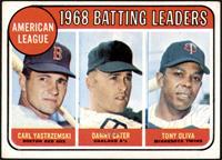1968 AL Batting Leaders (Carl Yastrzemski, Danny Cater, Tony Oliva) [VGEX]
