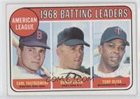 1968 AL Batting Leaders (Carl Yastrzemski, Danny Cater, Tony Oliva)