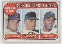 1968 AL Batting Leaders (Carl Yastrzemski, Danny Cater, Tony Oliva) [Good…