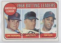 American League 1968 Batting Leaders (Carl Yastrzemski, Danny Cater, Tony Oliva)