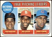 1968 NL Pitching Leaders (Juan Marichal, Bob Gibson, Fergie Jenkins) [VG+]