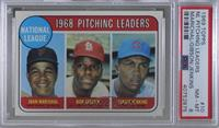 1968 NL Pitching Leaders (Juan Marichal, Bob Gibson, Fergie Jenkins) [PSA…