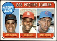 1968 NL Pitching Leaders (Juan Marichal, Bob Gibson, Fergie Jenkins) [GOOD]