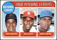 1968 NL Pitching Leaders (Juan Marichal, Bob Gibson, Fergie Jenkins) [NM]