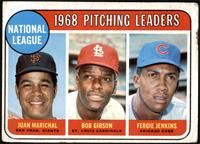 1968 NL Pitching Leaders (Juan Marichal, Bob Gibson, Fergie Jenkins) [FAIR]