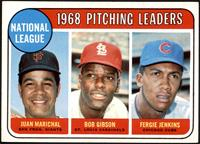 1968 NL Pitching Leaders (Juan Marichal, Bob Gibson, Fergie Jenkins) [EXM…
