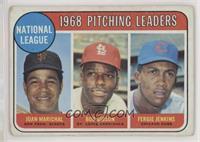 1968 NL Pitching Leaders (Juan Marichal, Bob Gibson, Fergie Jenkins) [Poor…