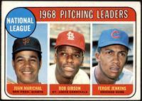 1968 NL Pitching Leaders (Juan Marichal, Bob Gibson, Fergie Jenkins) [VG]