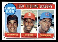1968 NL Pitching Leaders (Juan Marichal, Bob Gibson, Fergie Jenkins) [EX]