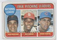 1968 NL Pitching Leaders (Juan Marichal, Bob Gibson, Fergie Jenkins) [Good …