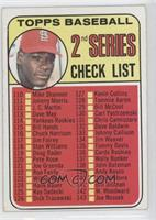 2nd Series Checklist (Bob Gibson) (161 Listed as Jim Purdin)