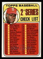 2nd Series Checklist (Bob Gibson) (161 Listed as John Purdin) [NM]