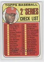 2nd Series Checklist (Bob Gibson)