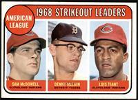 1968 AL Strikeout Leaders (Sam McDowell, Denny McLain, Luis Tiant) [EXMT]